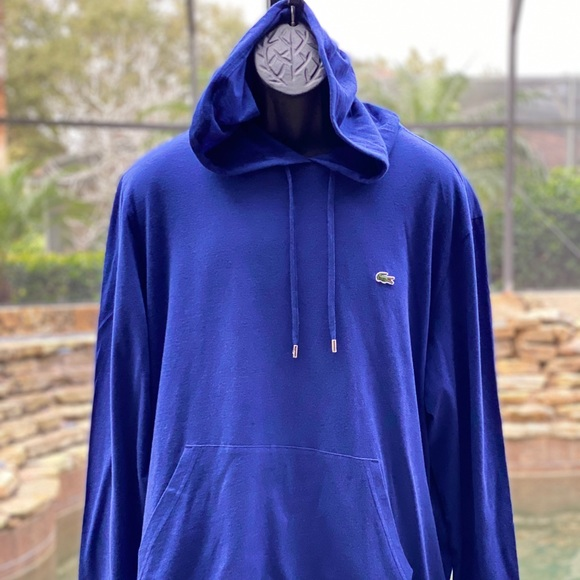 LACOSTE HOODED COTTON T-SHIRT